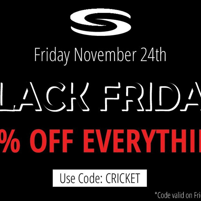 Black Friday @ Serious Cricket - Home of the Amport CC store