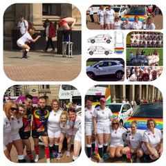 England Deaf Women attend Birmingham Gay Pride