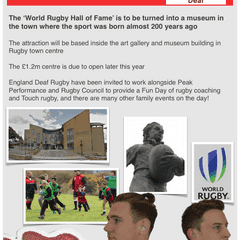 World Rugby gets support from England Deaf at Rugby Town!
