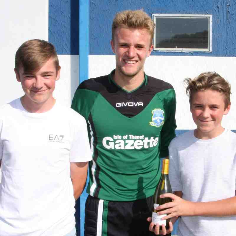 Man-of-the-match award to Lewis Ward