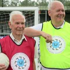 Father And Son Enjoy Walking Football At AFC