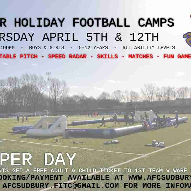 Easter Football Camps At King's Marsh