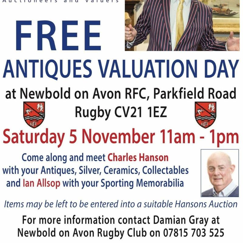 FREE Sports Memorabillia and Antiques Fare at Newbold RFC