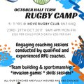 October Half-Term Rugby Camp at Hove Rugby Club