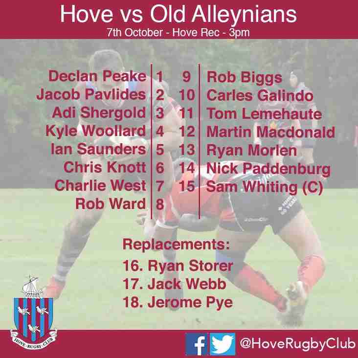 Three handed 1st XV debuts vs Old Alleynians