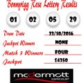 Weekly Lottery Results 23/10/16