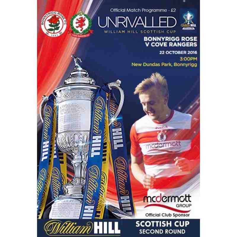 Bonnyrigg Rose v Cove Rangers Match Programme