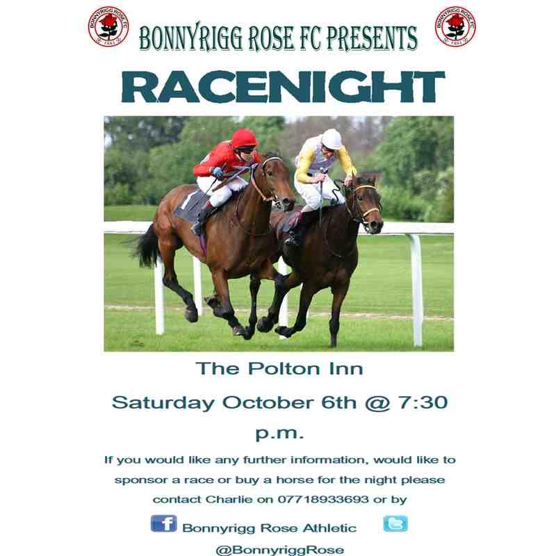 Race Night October 6th - Sponsor