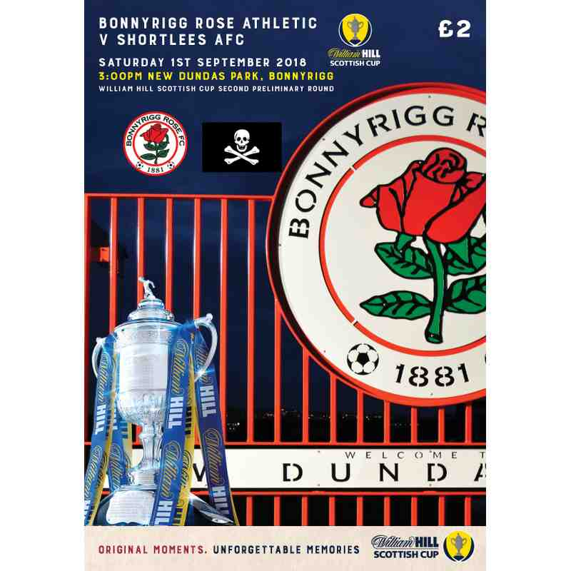 Bonnyrigg Rose Athletic v Shortlees AFC Match Programme