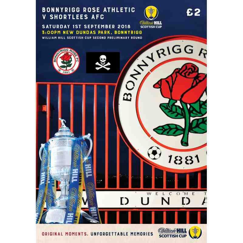 Bonnyrigg Rose Athletic v Shortlees AFC Match Day Programme