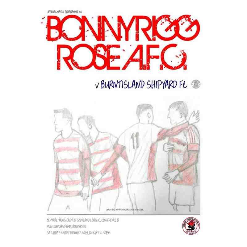 Bonnyrigg Rose Athletic v Burntisland Shipyard Match Programme
