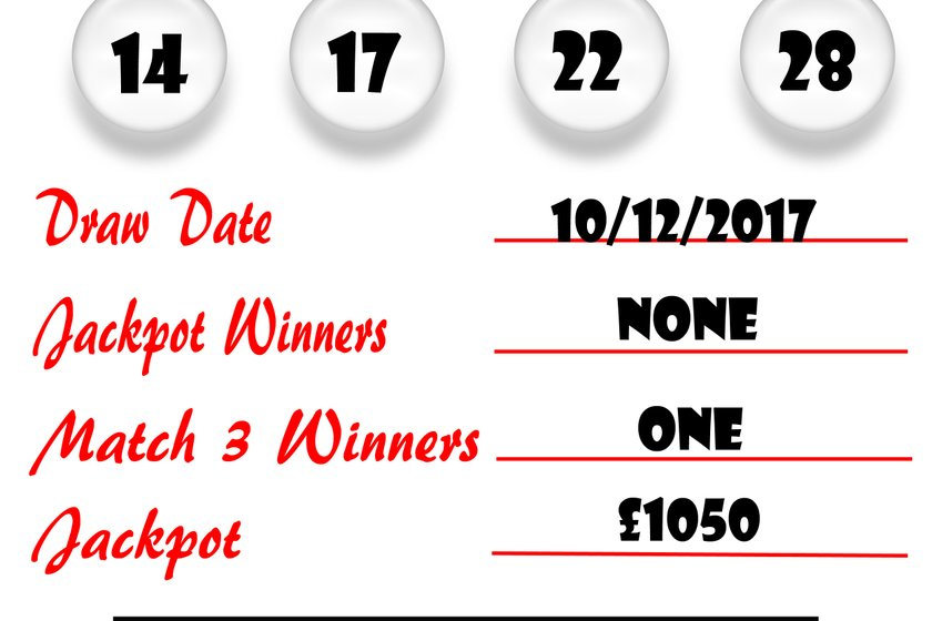 Weekly Lottery Results 10/12/17