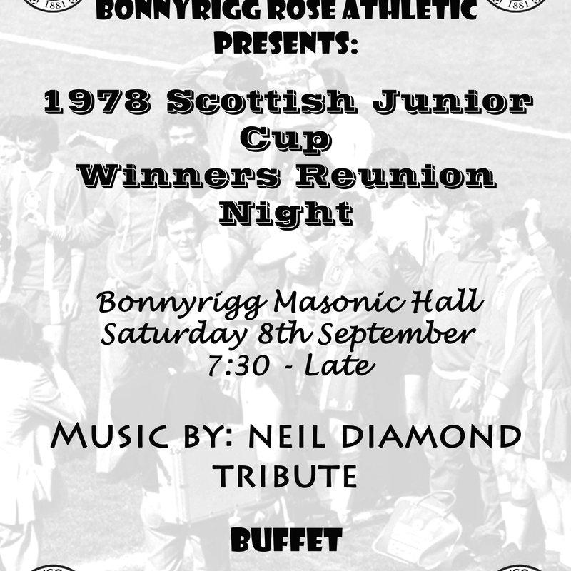 1978 Scottish Junior Cup Winners Reunion Night.