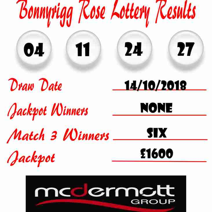 Weekly Lottery Results 14/10/18