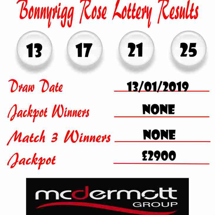 Weekly Lottery Results 13/01/19