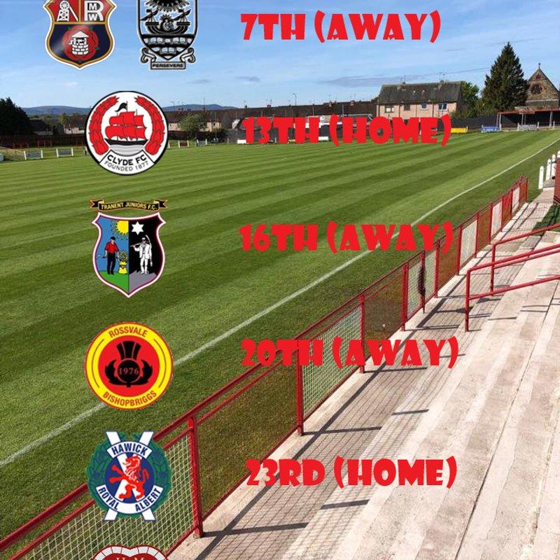 Pre season schedule finalised