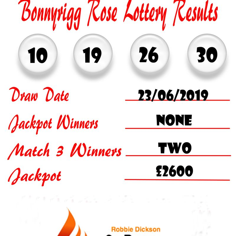 Weekly lottery results 23/06/19