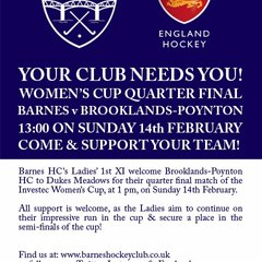 Women's 1s QF England Hockey Cup Match