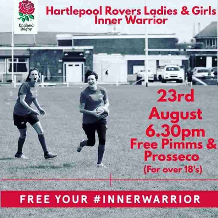 Inner Warrior Female Rugby Taster Session - Wed 23rd 18:30 - Free Pimms & Prosecco!
