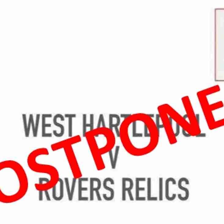 Relics game at West postponed