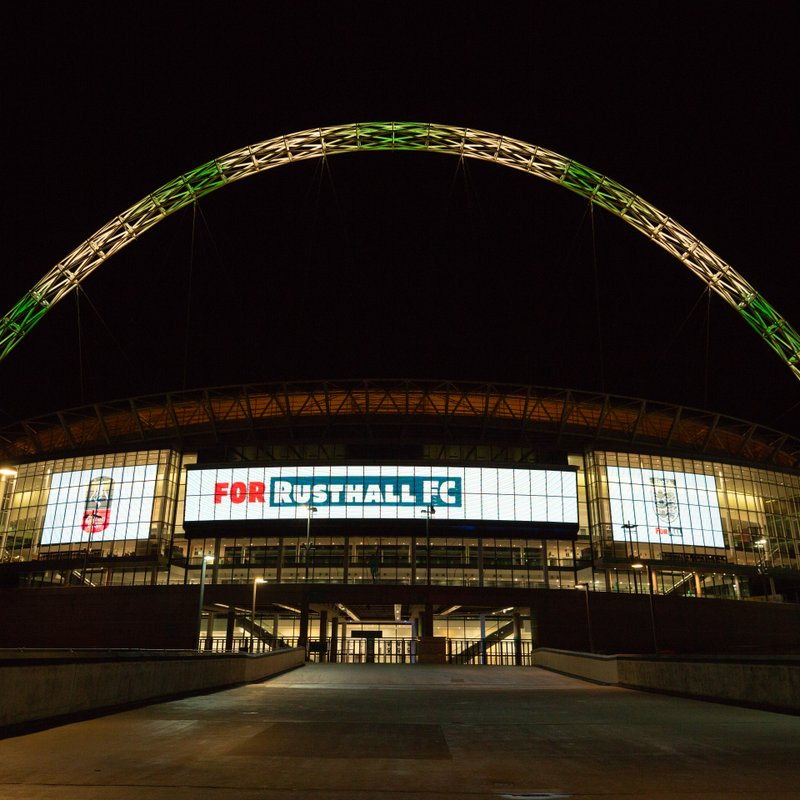 Wembley Stadium Lights Up For Rusthall