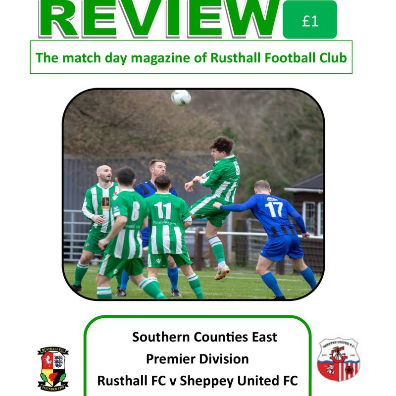 Rusthall vs Sheppey United: Match Day Magazine