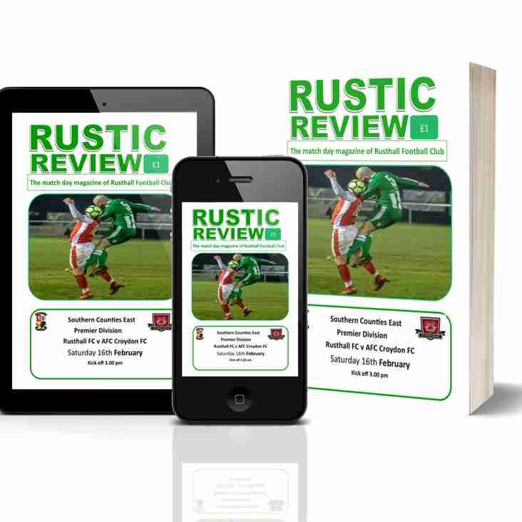 Rusthall vs AFC Croydon Athletic: Match Day Magazine