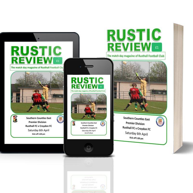 Rusthall vs Croydon: Match Day Magazine
