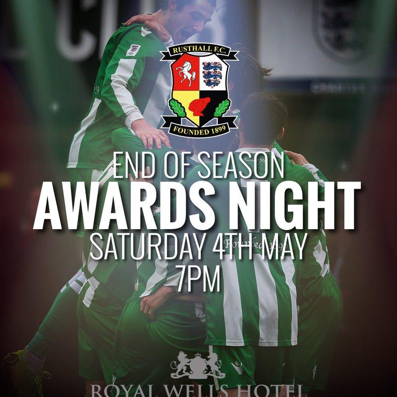 End of Season Awards Night!