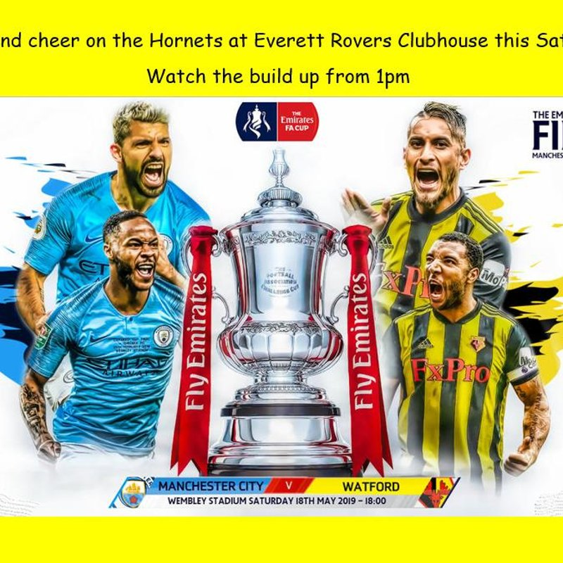 FA CUP FINAL- At THE CLUBHOUSE