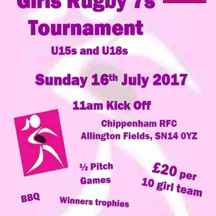 Chippenham Girls 7s Festival Announced