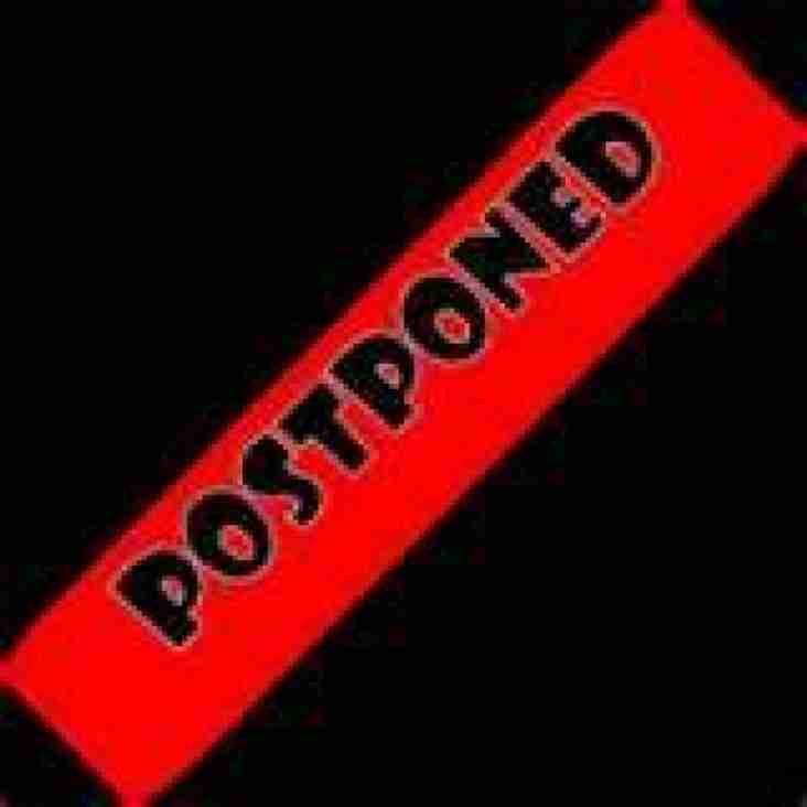 Both First team & Reserves Games Postponed this weekend