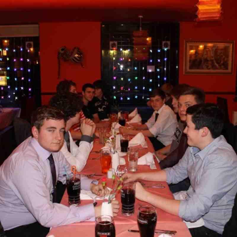 U18's Christmas Dinner 2012