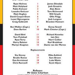 Teams for Tomorrow's Play-off match at Kirkby Lonsdale