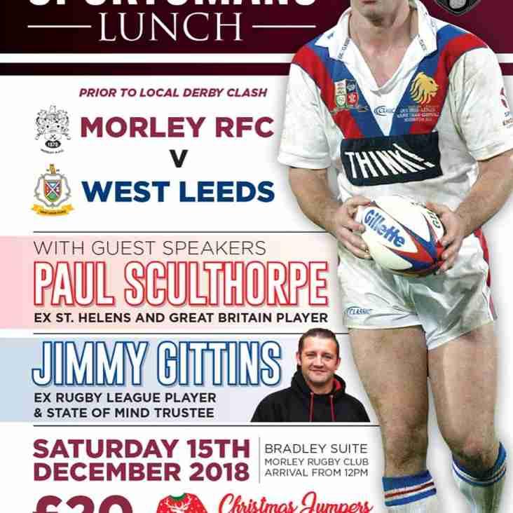 Morley v West Leeds : Team selections