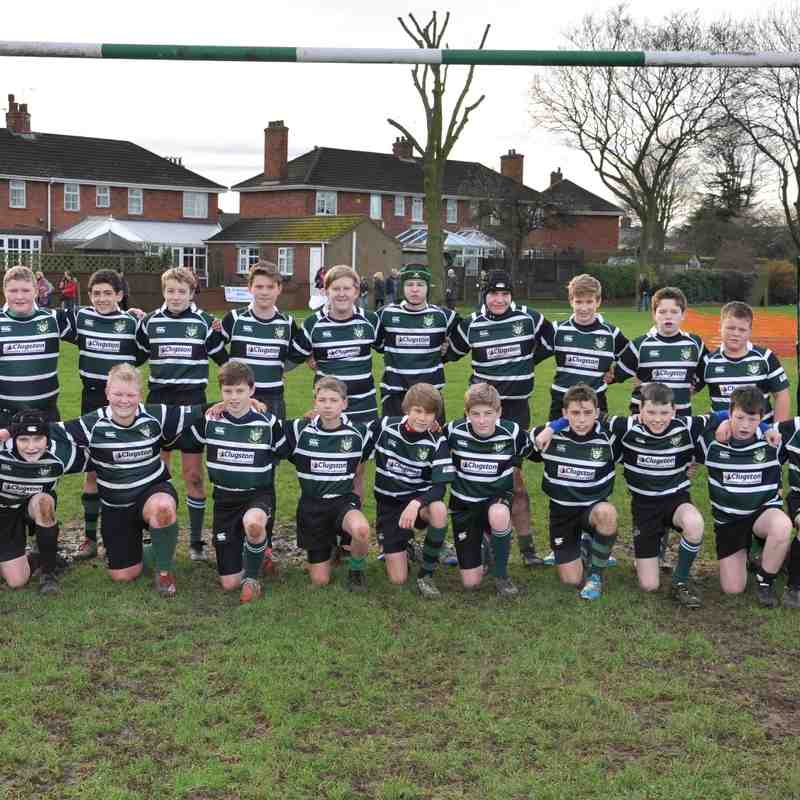 Scunthorpe under 13's - 24   Ashbourne under 13's  - 17