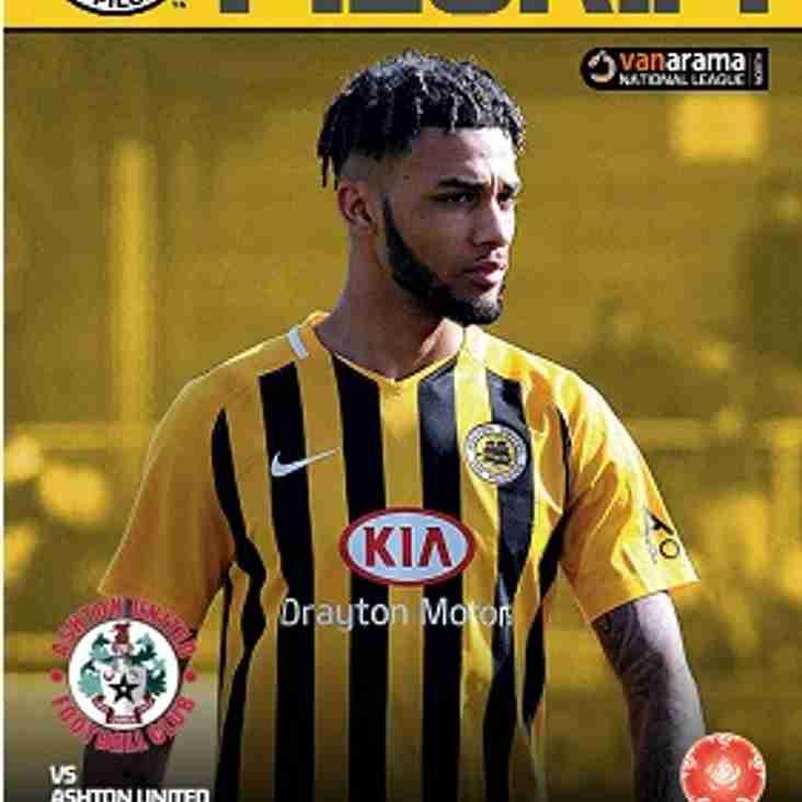 Programme - Ashton United