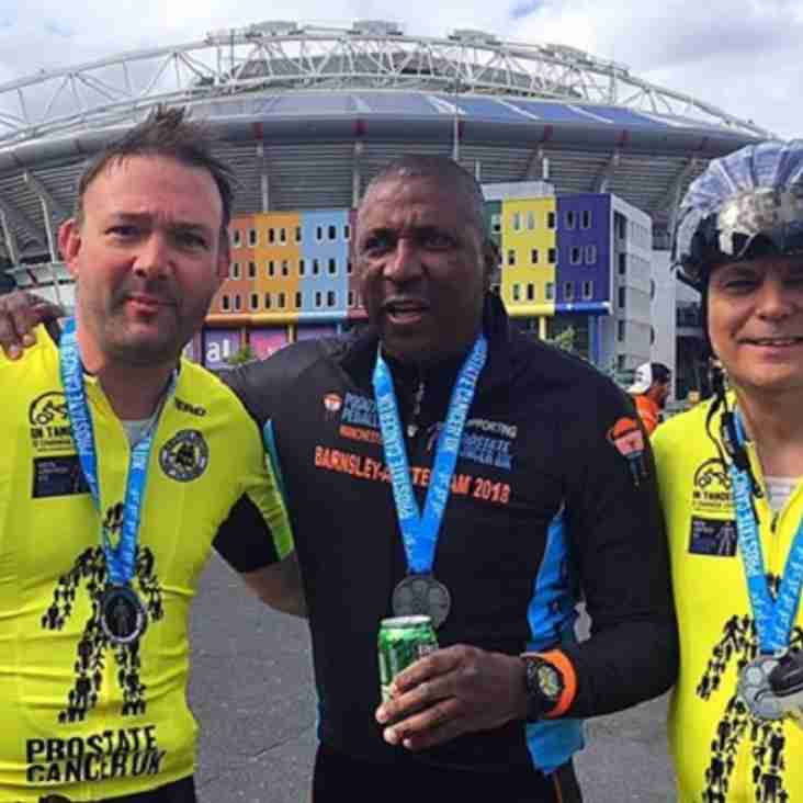 Pilgrim completes mammoth cycle ride