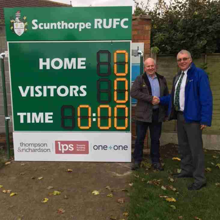 Thompson & Richardson - Sponsor of Club Scoreboard