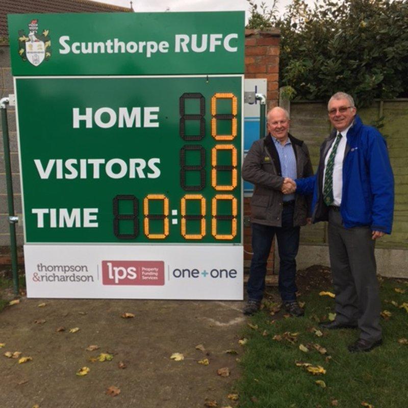 Thompson & Richardson - Sponsor of Club Scoreboard