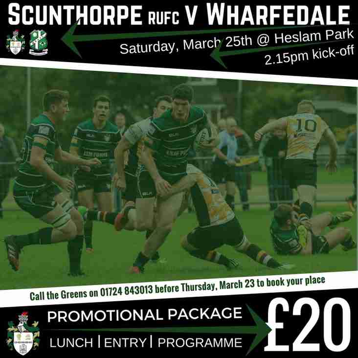 Scunthorpe RUFC Hospitality Package - 25 March - Past Players Lunch
