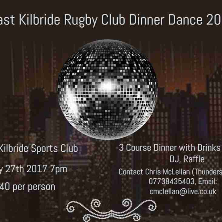 Rugby Dinner Dance Payment Now Due