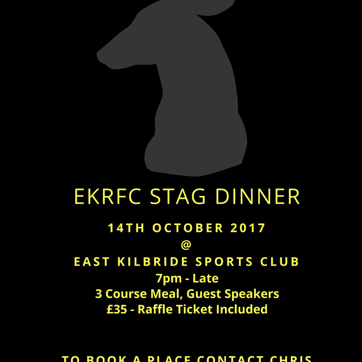 Annual Stag Dinner 14th October 2017