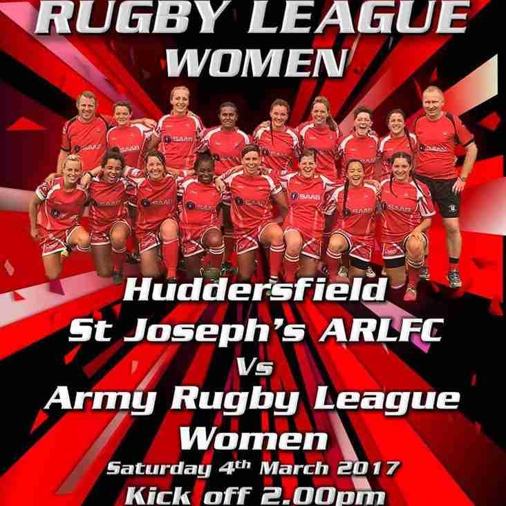 Army Women vs Huddersfield St Joesphs