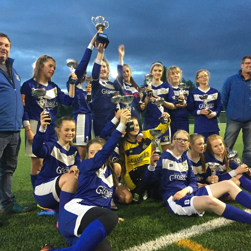 GIRLS HOLD ON FOR CUP GLORY