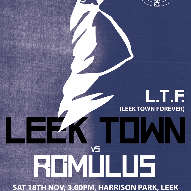 MATCHDAY POSTER FOR ROMULUS