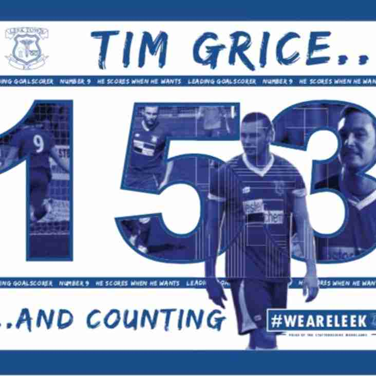 GRICE BREAKS CLUB GOAL SCORING RECORD