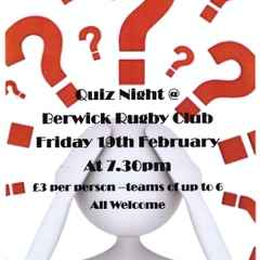 Quiz Night Friday 19th February