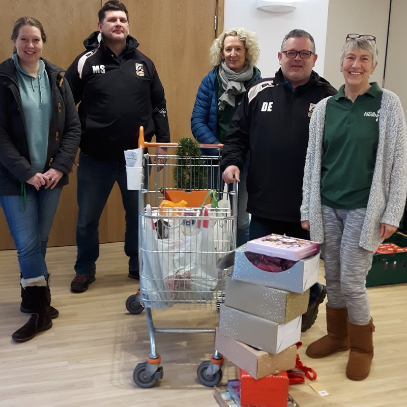 EUCRFC happy to donate to the Epping & Loughton Food Bank