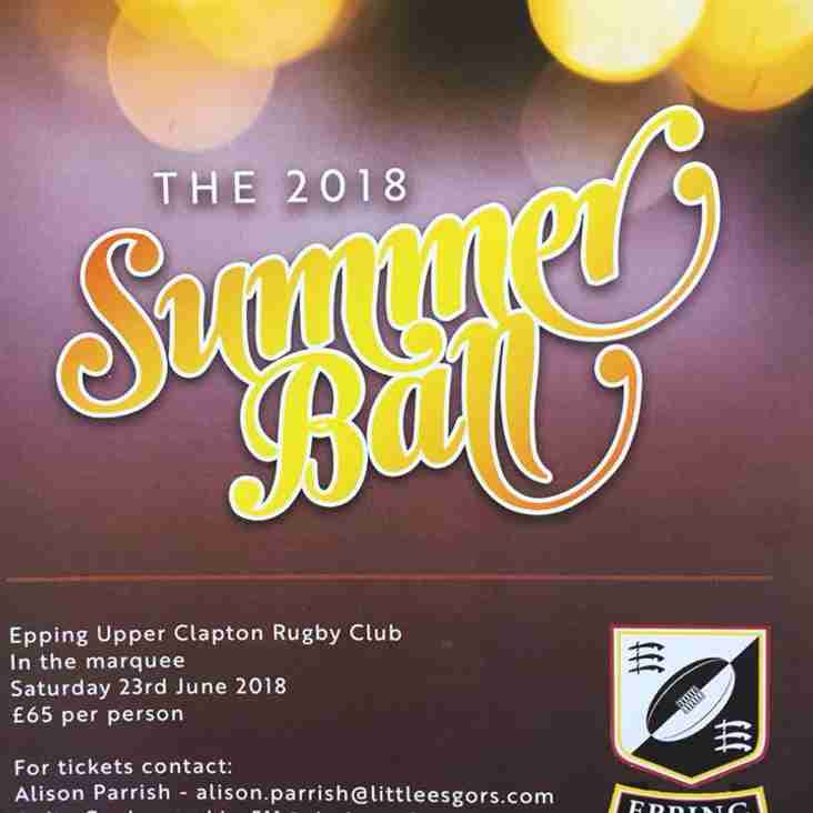 THE GRAND EUCRFC SUMMER BALL IS BACK
